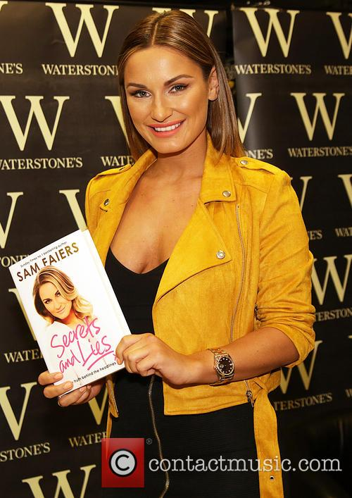 Sam Faiers signs copies of her new book...