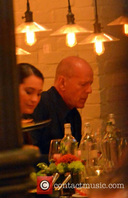 Bruce Willis and His Wife Emma Heming-willis Having Dinner 4
