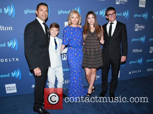 Mark Consuelos, Joaquin Consuelos, Kelly Ripa, Grace Consuelos and Michael Joseph Consuelos 2