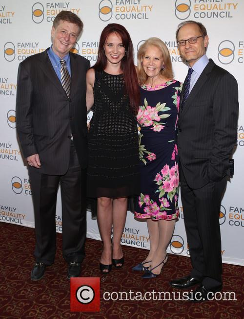 Brian Hargrove, Sierra Boggess, Daryl Roth and David Hyde Pierce 2