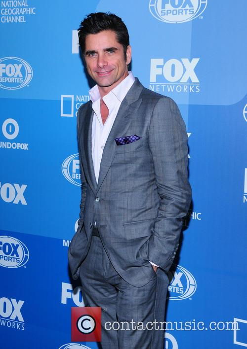 John Stamos arriving at the Fox Upfront Presentation