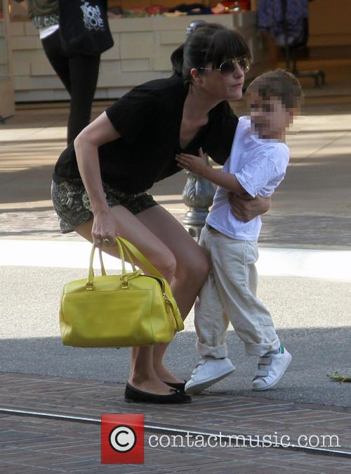 Selma Blair takes her son shopping at the...