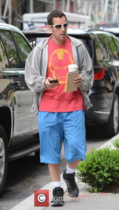 Adam Sandler out and about in New York...