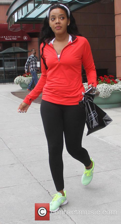Angela Simmons leaves a salon in Beverly Hills
