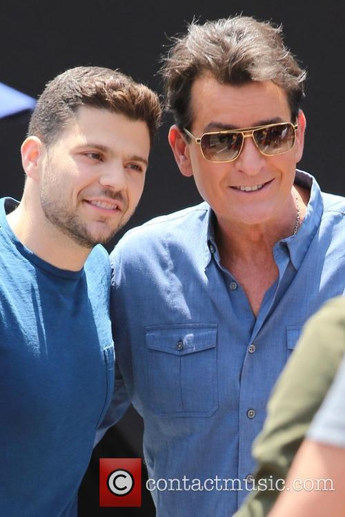 Charlie Sheen and Jerry Ferrara