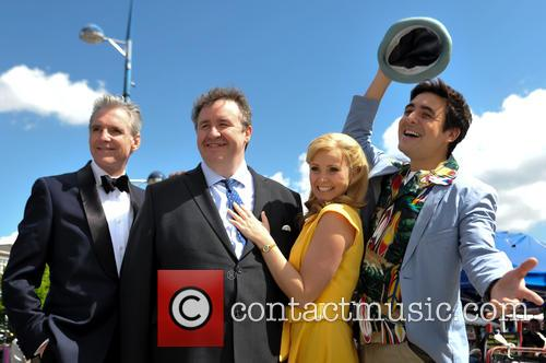 Michael Praed, Mark Benton, Carley Stenson and Noel Sullivan 7