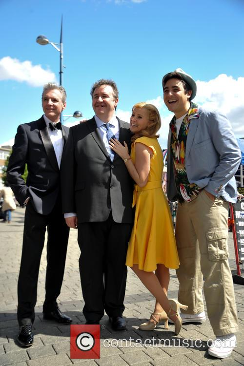 Michael Praed, Mark Benton, Carley Stenson and Noel Sullivan 1