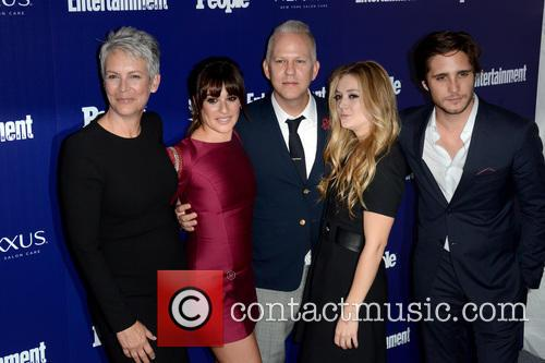 Jamie Lee Curtis, Lea Michele and Ryan Murphy 3