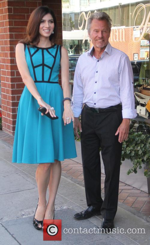 John Savage leaves a nail salon in Beverly...
