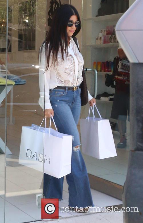 Kourtney Kardashian filming at Dash store