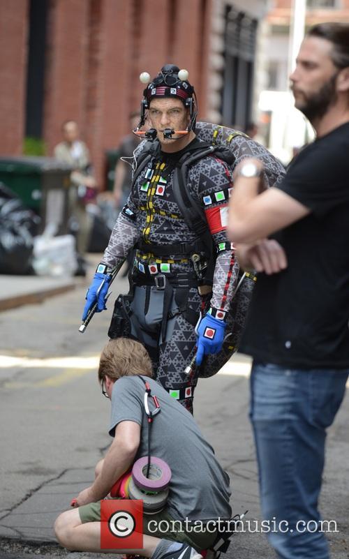 Megan Fox on the set of Teenage Mutant...