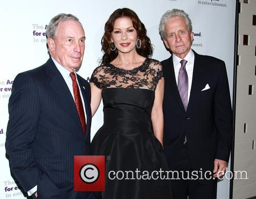 Michael Bloomberg, Catherine Zeta-jones and Michael Douglas 2