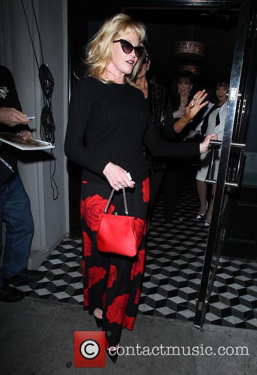 Kris Jenner and Melanie Griffith leave Craig's restaurant...