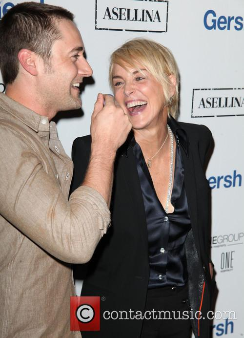 Ryan Eggold and Sharon Stone 1