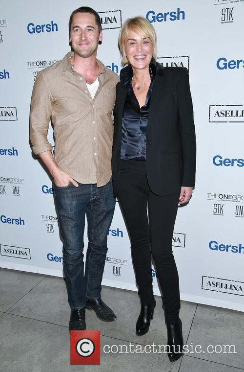 Ryan Eggold and Sharon Stone 4