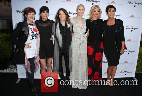 Frances Fisher, Selma Blair, Marianne Williamson, Kelly Rutherford, Melanie Griffith and Kris Jenner 4