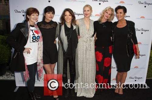 Frances Fisher, Selma Blair, Marianne Williamson, Kelly Rutherford, Melanie Griffith and Kris Jenner 5
