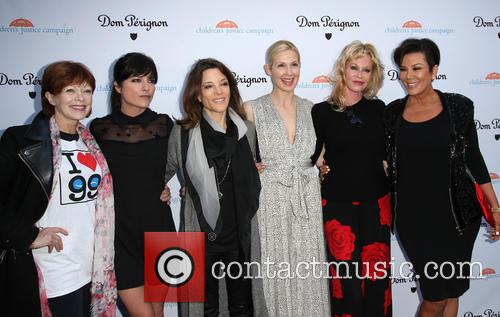 Frances Fisher, Selma Blair, Marianne Williamson, Kelly Rutherford, Melanie Griffith and Kris Jenner 7