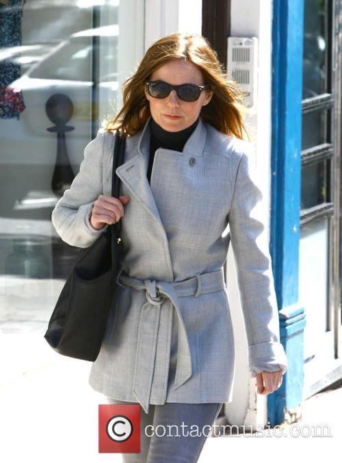 Geri Halliwell out in north London