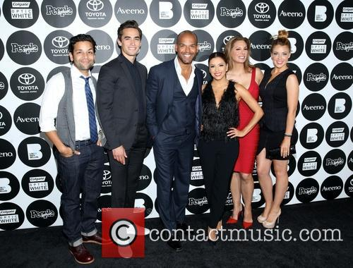Izzy Diaz, Jose Moreno Brooks, Amaury Nolasco, Eva Longoria, Alex Meneses and Jadyn 2