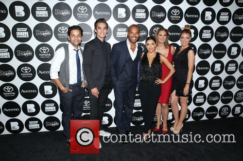 Izzy Diaz, Jose Moreno Brooks, Amaury Nolasco, Eva Longoria, Alex Meneses and Jadyn 3