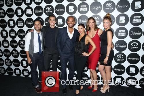 Izzy Diaz, Jose Moreno Brooks, Amaury Nolasco, Eva Longoria, Alex Meneses and Jadyn 4