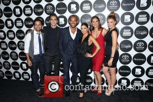 Izzy Diaz, Jose Moreno Brooks, Amaury Nolasco, Eva Longoria, Alex Meneses and Jadyn 1