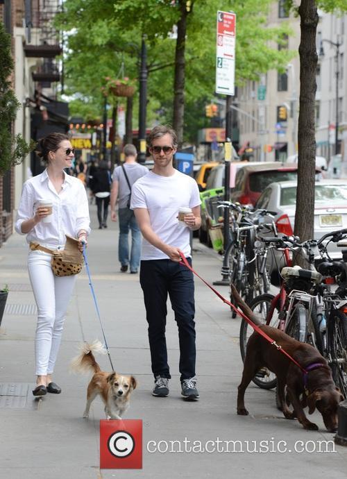 Anne Hathaway and Adam Shulman 6