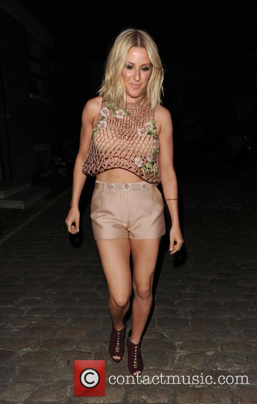 Ellie Goulding leaving her home, and heading to...