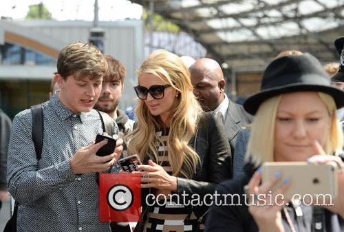 Paris Hilton sightseeing in Liverpool