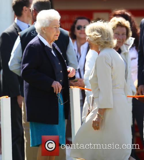 Queen Elizabeth Ii and Camilla Duchess Of Cornwall 11