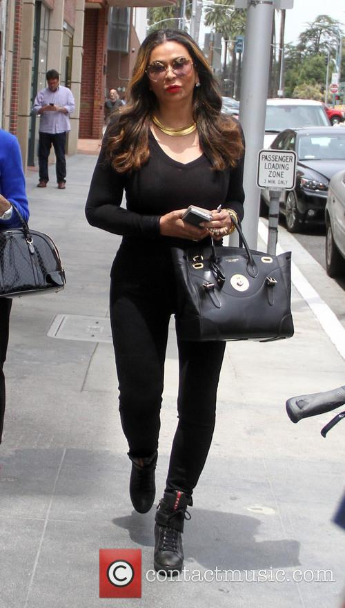 Tina Knowles goes shopping in Beverly Hills