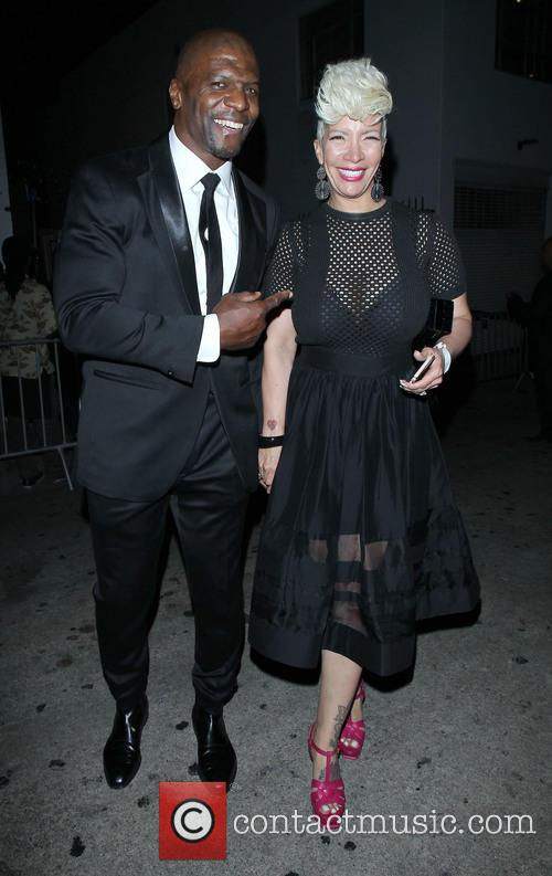 Terry Crews and wife his Rebecca Crews leaves...