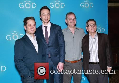 Christopher Fitzgerald, Jim Parsons, David Javerbaum and Tim Kazurinsky 2