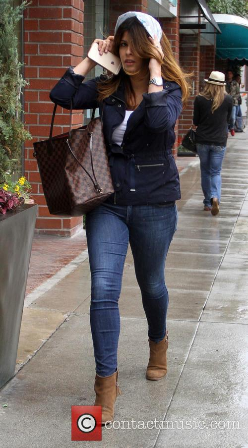 Violante Placido goes shopping in Beverly Hills