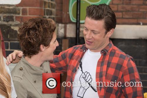 tamsin Greig and Jamie Oliver 1