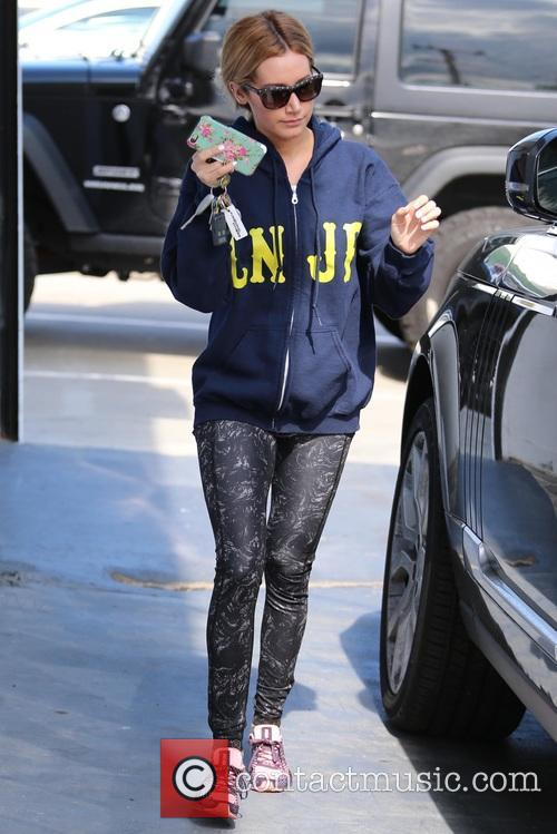 Ashley Tisdale spotted leaving the gym after a...