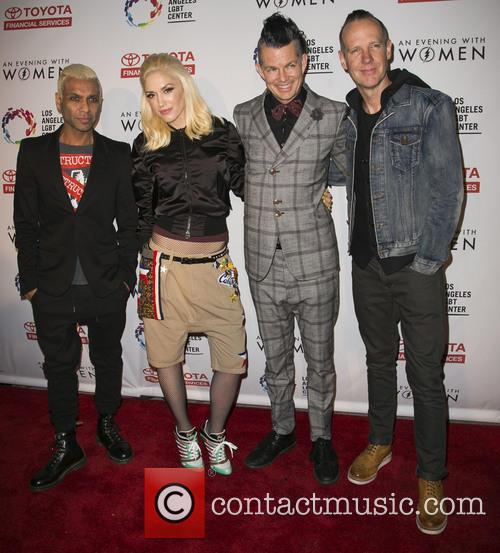 Tony Kanal, Gwen Stefani, Tom Dumont, Adrian Young and Of No Doubt 3