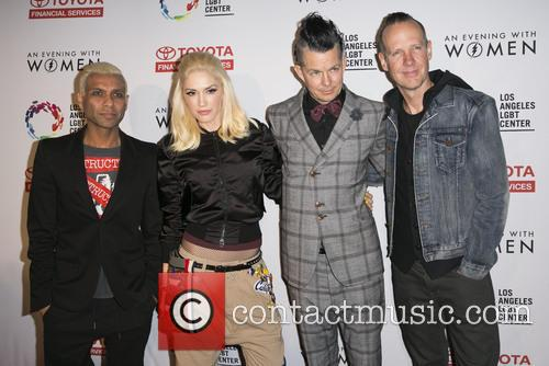 Tony Kanal, Gwen Stefani, Tom Dumont, Adrian Young and Of No Doubt 6