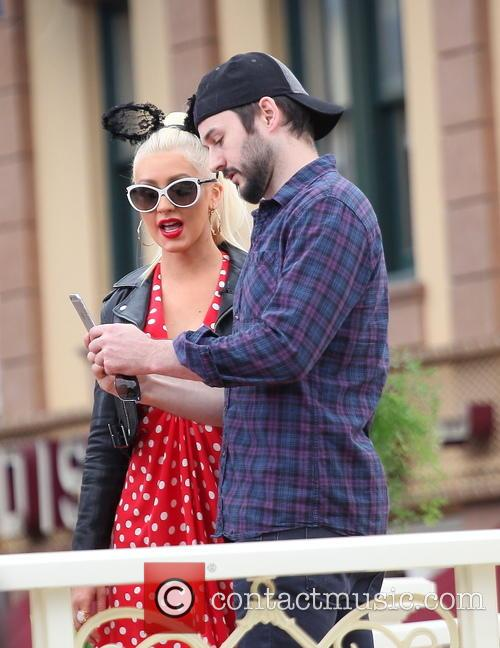 Christina Aguilera at Disneyland
