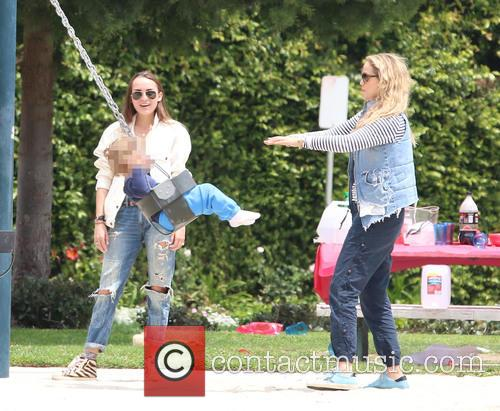 Elizabeth Berkley and family at Coldwater Park