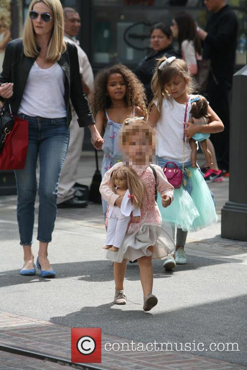 Jessica Alba and family at The Grove