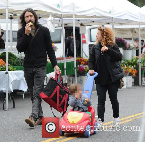Nikka Costa and family at the Farmers Market