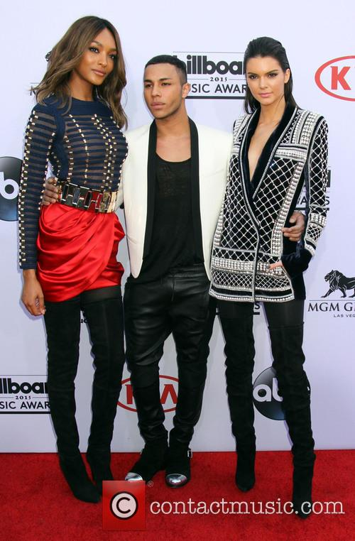 Jourdan Dunn, Olivier Rouseing and Kendall Jenner 1