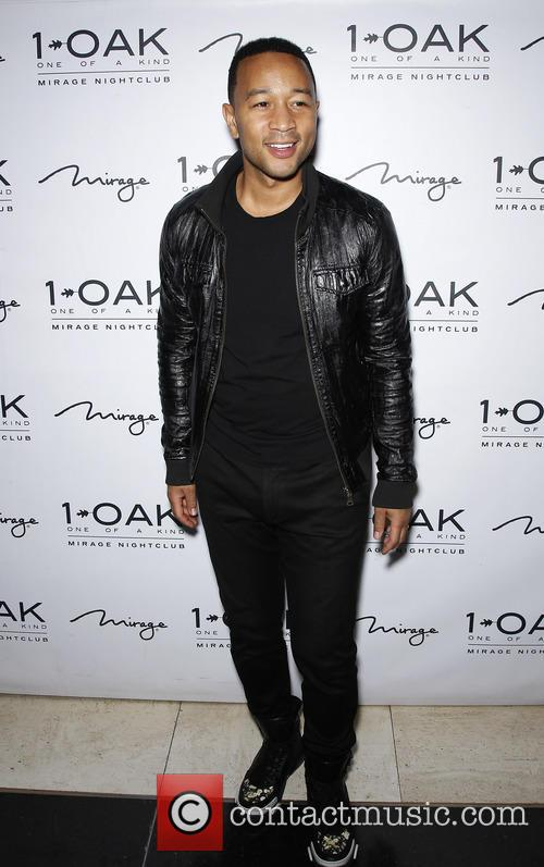 John Legend Chrissy Teigen at 1 OAK Nightclub