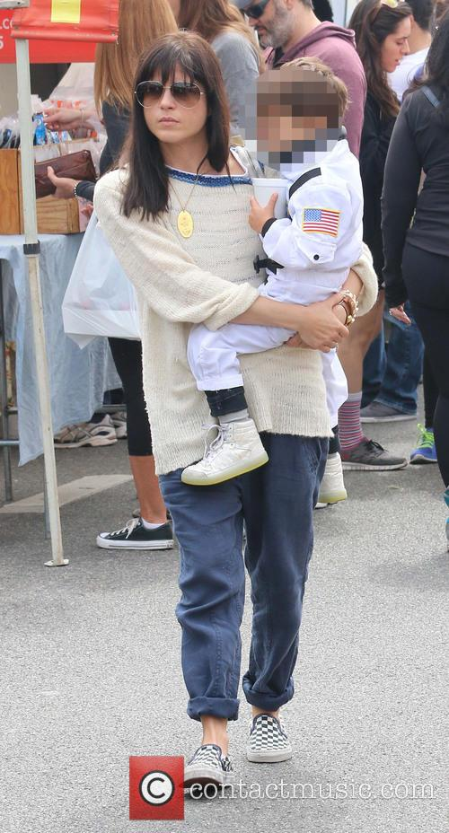Selma Blair takes Arthur to the Farmers Market