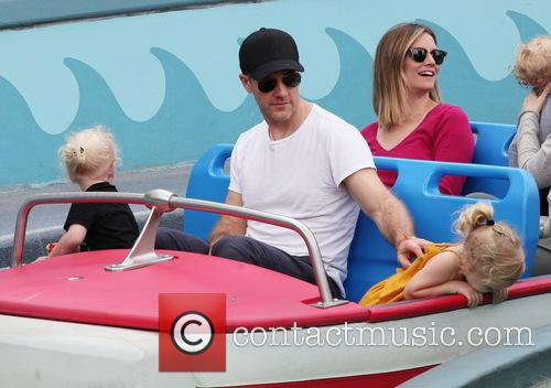 James Van Der Beek enjoys family time at...