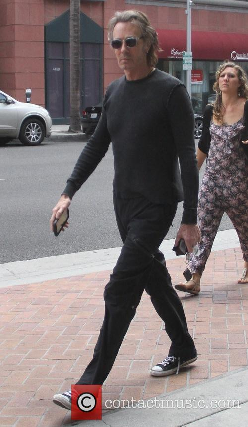 Rick Springfield goes shopping in Beverly Hills