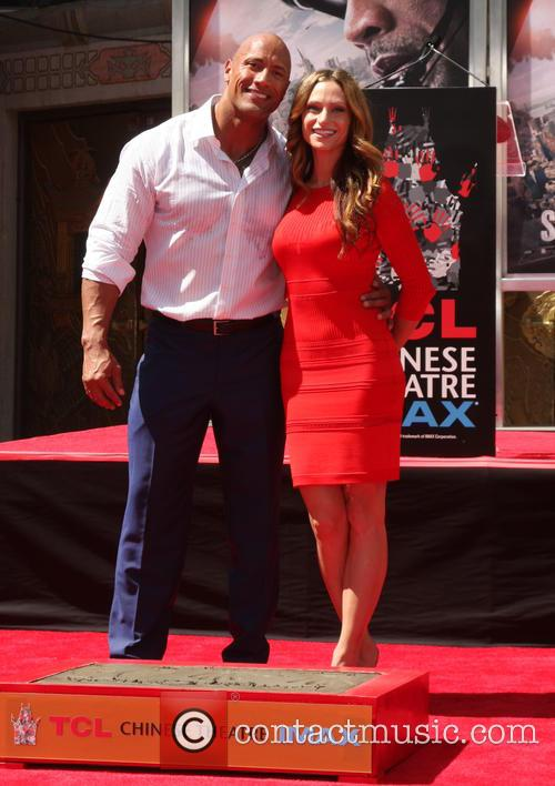 Dwayne Johnson and Lauren Hashian 1