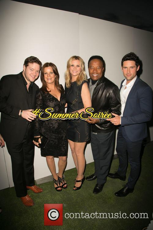 Harry Ford, Marcia Gay Harden, Bonnie Somerville, William Allen Young and Ben Hollingsworth